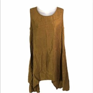 Chalet dark mustard gold yellow tunic shirt top S